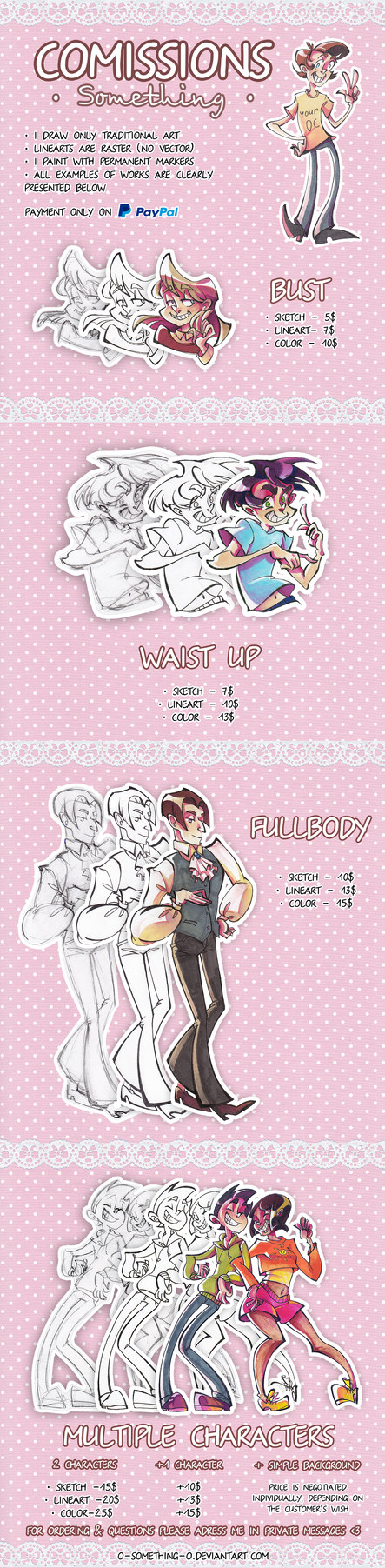 Commissions Info [Paypal] by Selebushka
