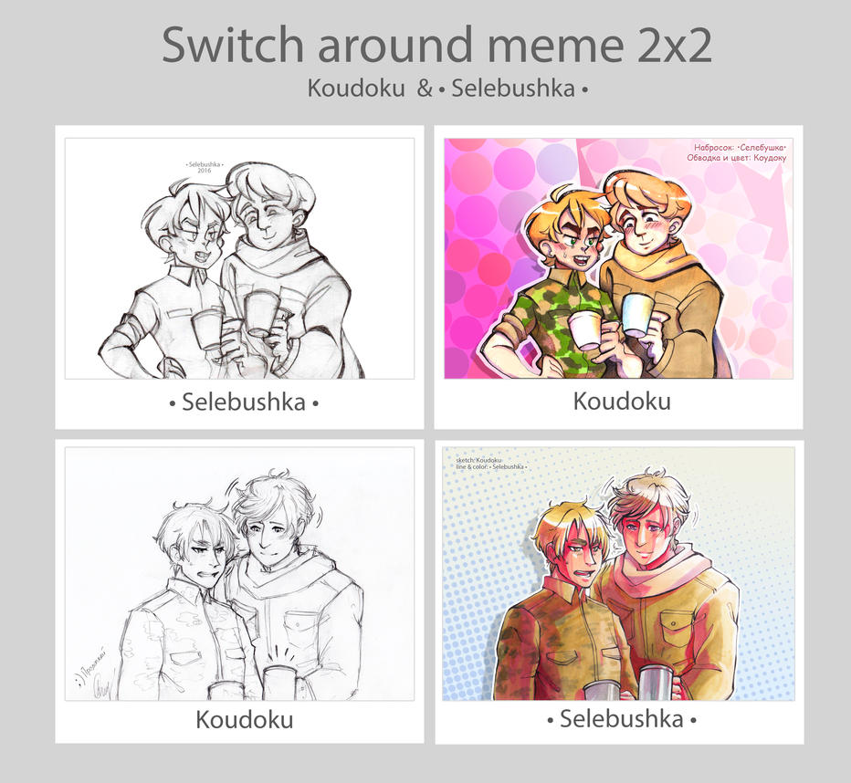 RusEng Switch around meme 2x2 by Selebushka