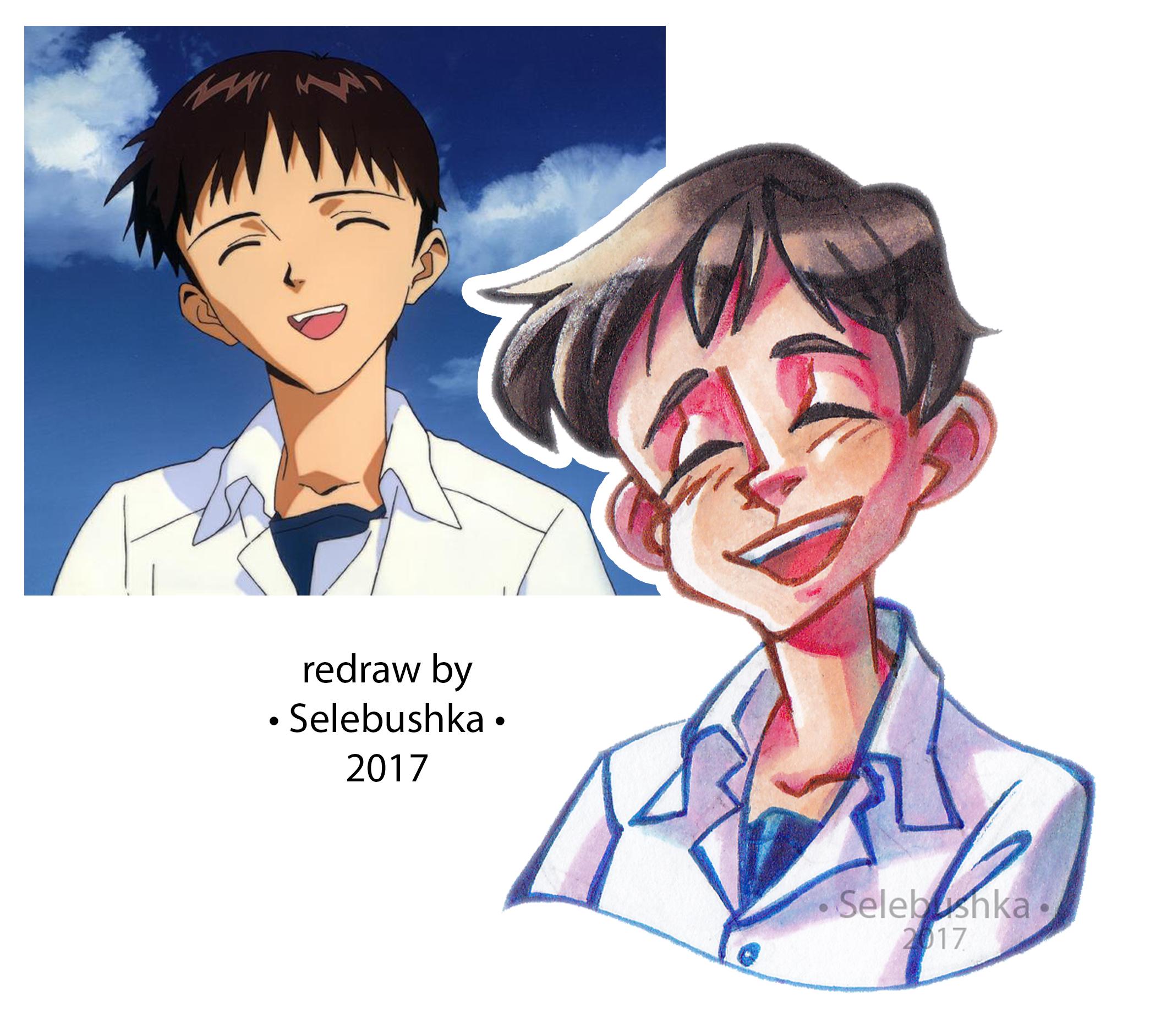 Ikari Shinji by Selebushka
