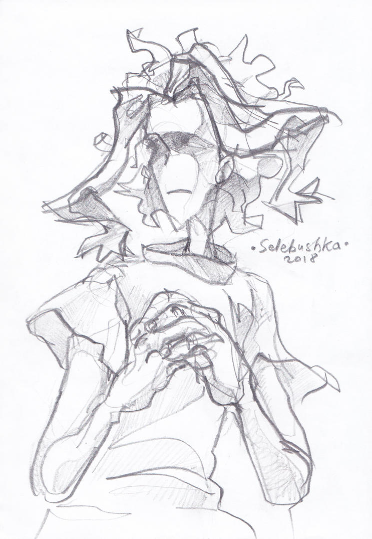 Sketch of Toshinori Yagi by Selebushka