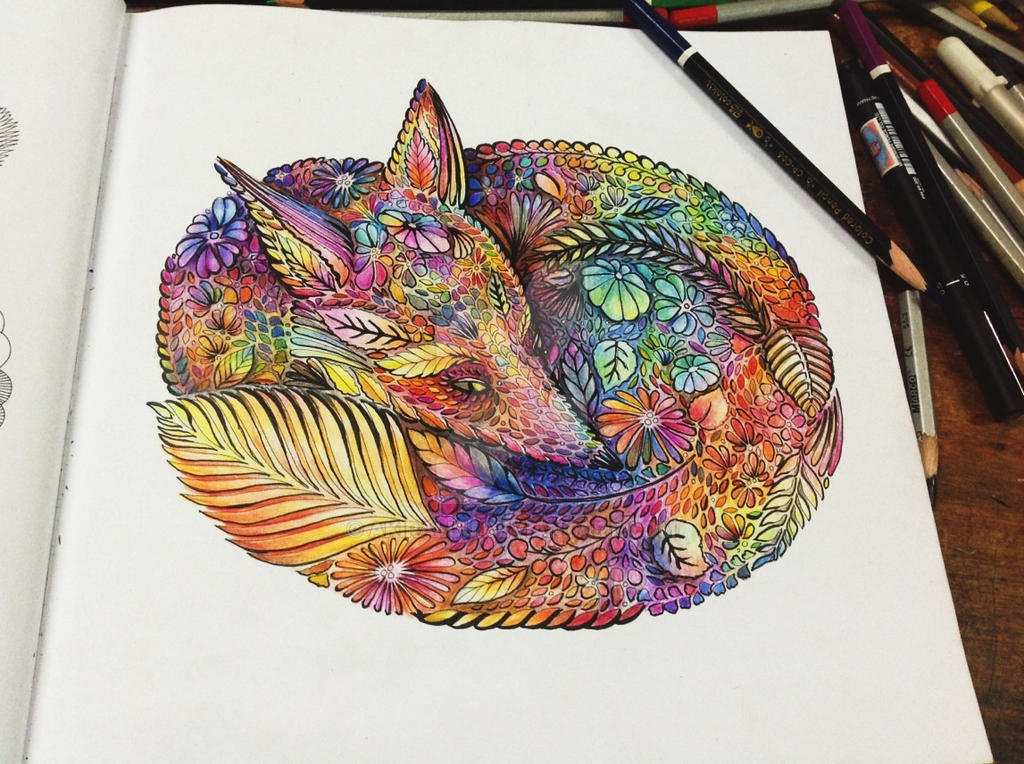 Animal Kingdom Coloring Book Fox Millie Marotta Related Keywords