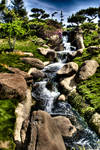 hdr japanese waterfall one