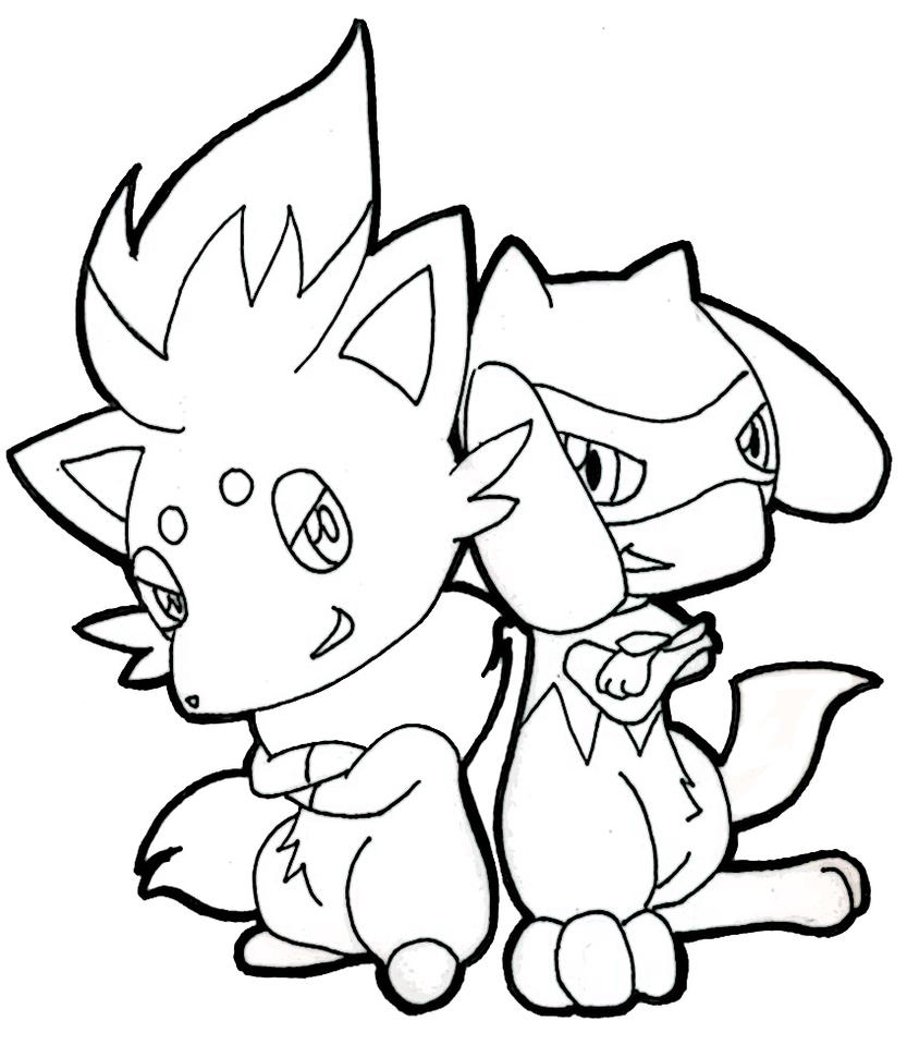 riolu pokemon coloring pages - photo#28