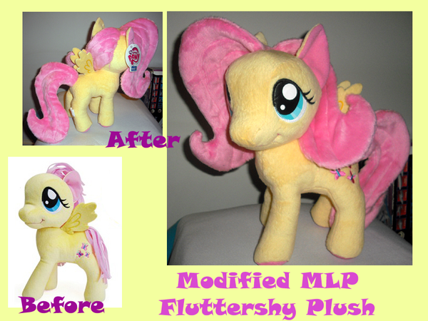 Modified Fluttershy Plush by methuselah-alchemist