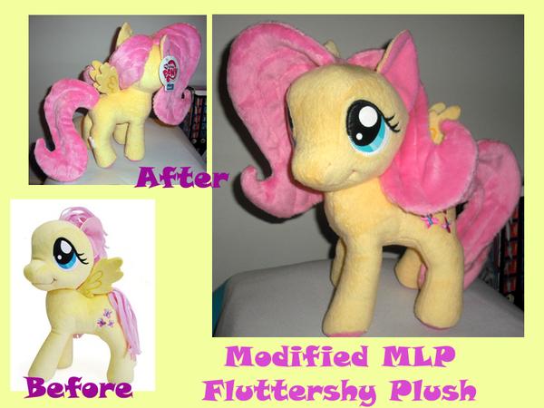 Modified Fluttershy Plush by methuselah-alchemist