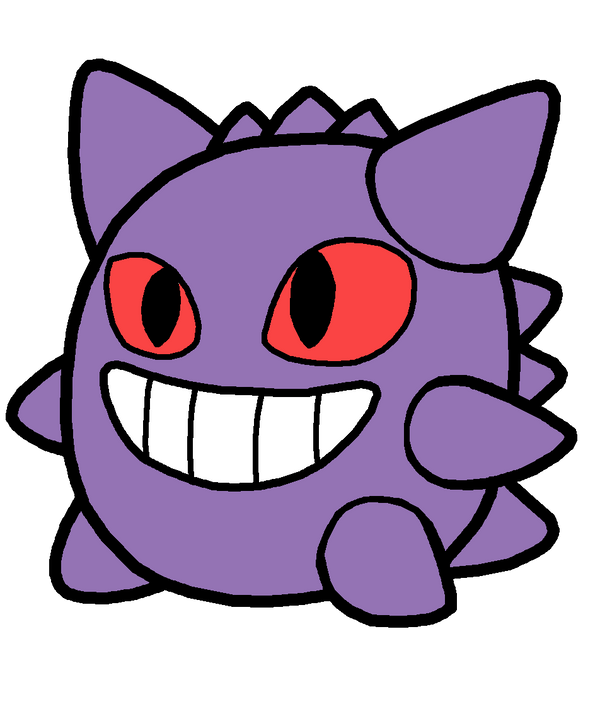 Gengar Pokedoll Art Redesigned by methuselah-alchemist