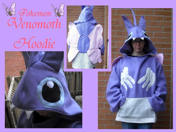 Venomoth Hoodie by methuselah-alchemist