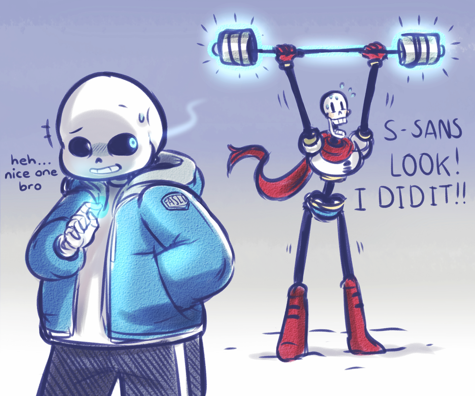 Sans And Papyrus Together On Sans And Papyrus Deviantart