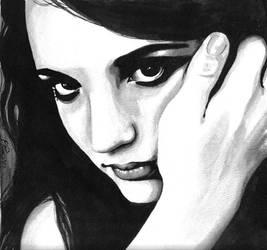 Self Portrait: Ink Wash 2010 by riansart