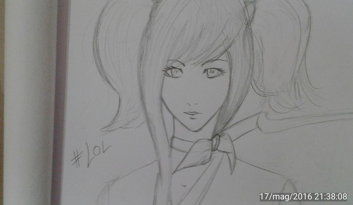 Mumei?!?Kabaneri/quick Sketch LOL by UsamaruAyakura