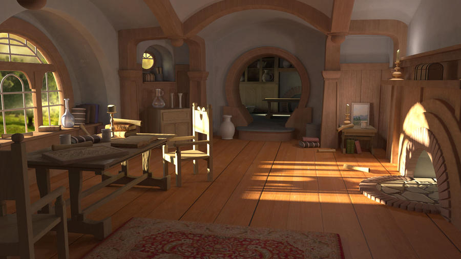 Bilbo baggins room by lmushrooms on deviantart for Lord of the rings bedroom ideas