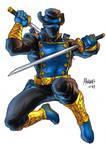 Ronin Ranger in color as drawn by Gilbert Monsanto
