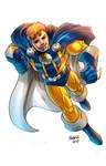 Captain Halcyon as drawn by Gilbert Monsanto