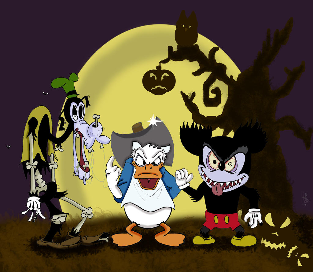 happy halloween from mickey donald and goofy by neyebur - Goofy Halloween Pictures