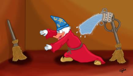 Donald, the new Sorcerer's Apprentice by Neyebur