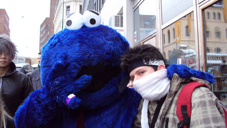 Me and Cookie monster by Dark-Vengeance912