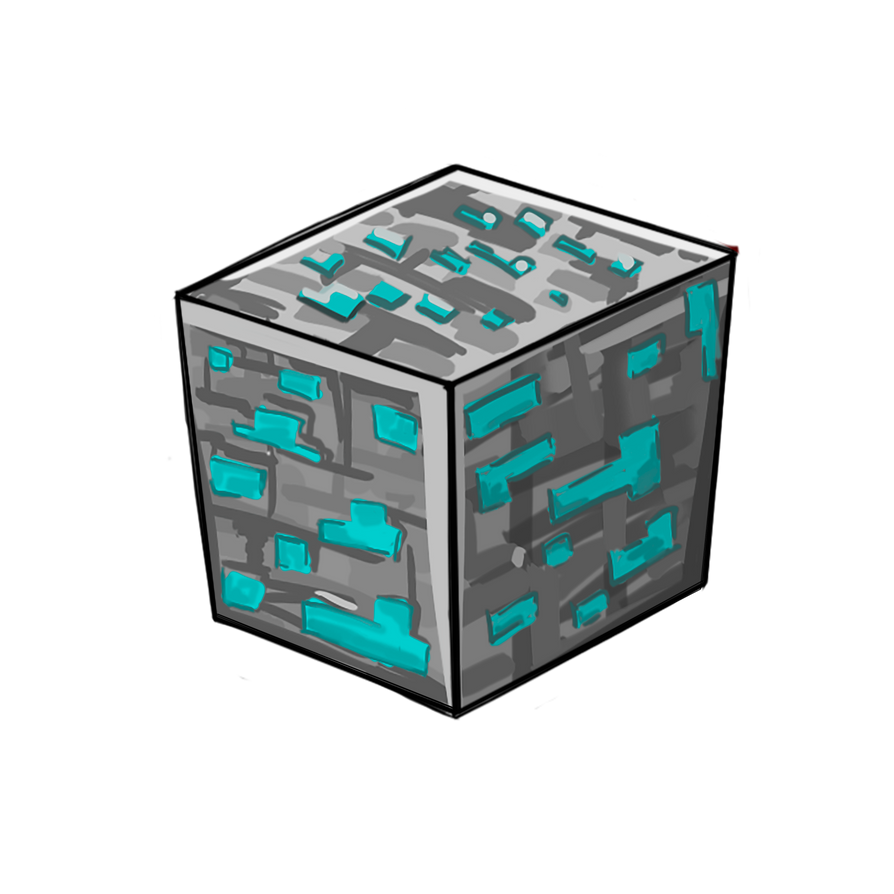 diamond deviantart by art minecraft on kotanya block