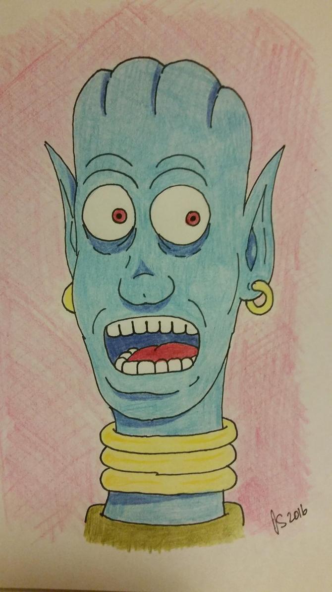 Blue Alien by backerman