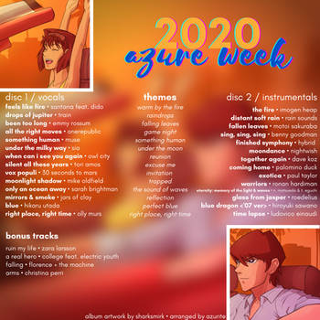 Azure Week 2020 Fanmix - Back Cover