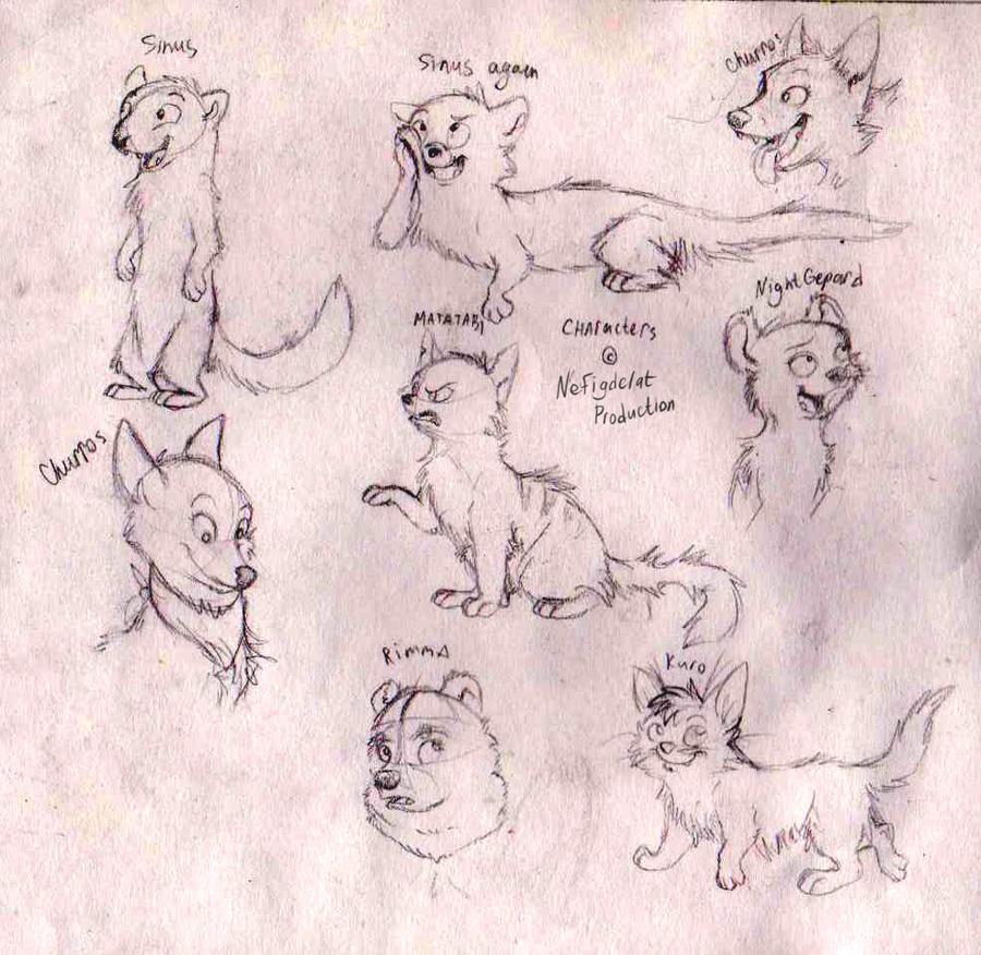 Characters skethes by ShakShakalut