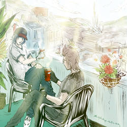Ignoct: Morning coffee in Lestallum