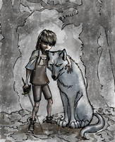 Aguja,Arya,Nymeria by jucari