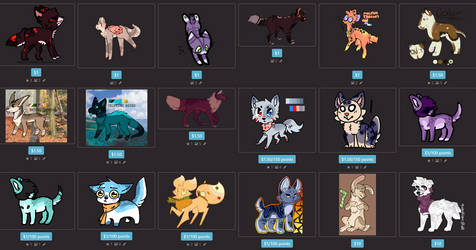lots and lots of characters for sale!!