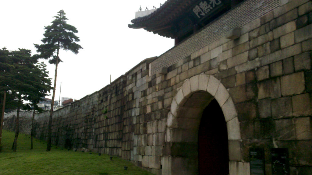 part of the old city wall in Seoul by Kampy