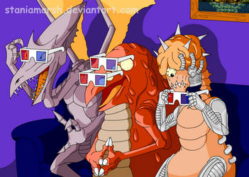 Metroid Bad Guys 3D Movie by StaniaMarsh