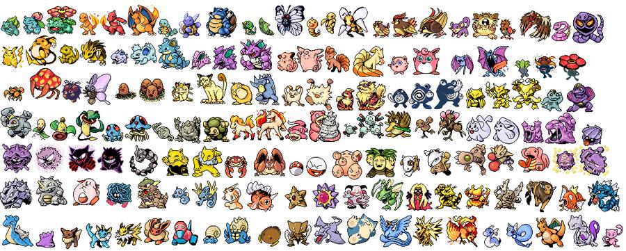 All Kanto Pokemon Revamp by NexEvo on DeviantArt