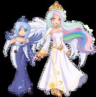 Luna and Celestia combo. by AngriestAngryArtist