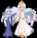 Luna and Celestia combo.