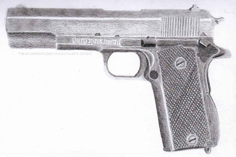 Colt M1911A1 by TswordZ