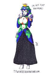 Inktober, day 07 - Princess Earth-sama by TswordZ