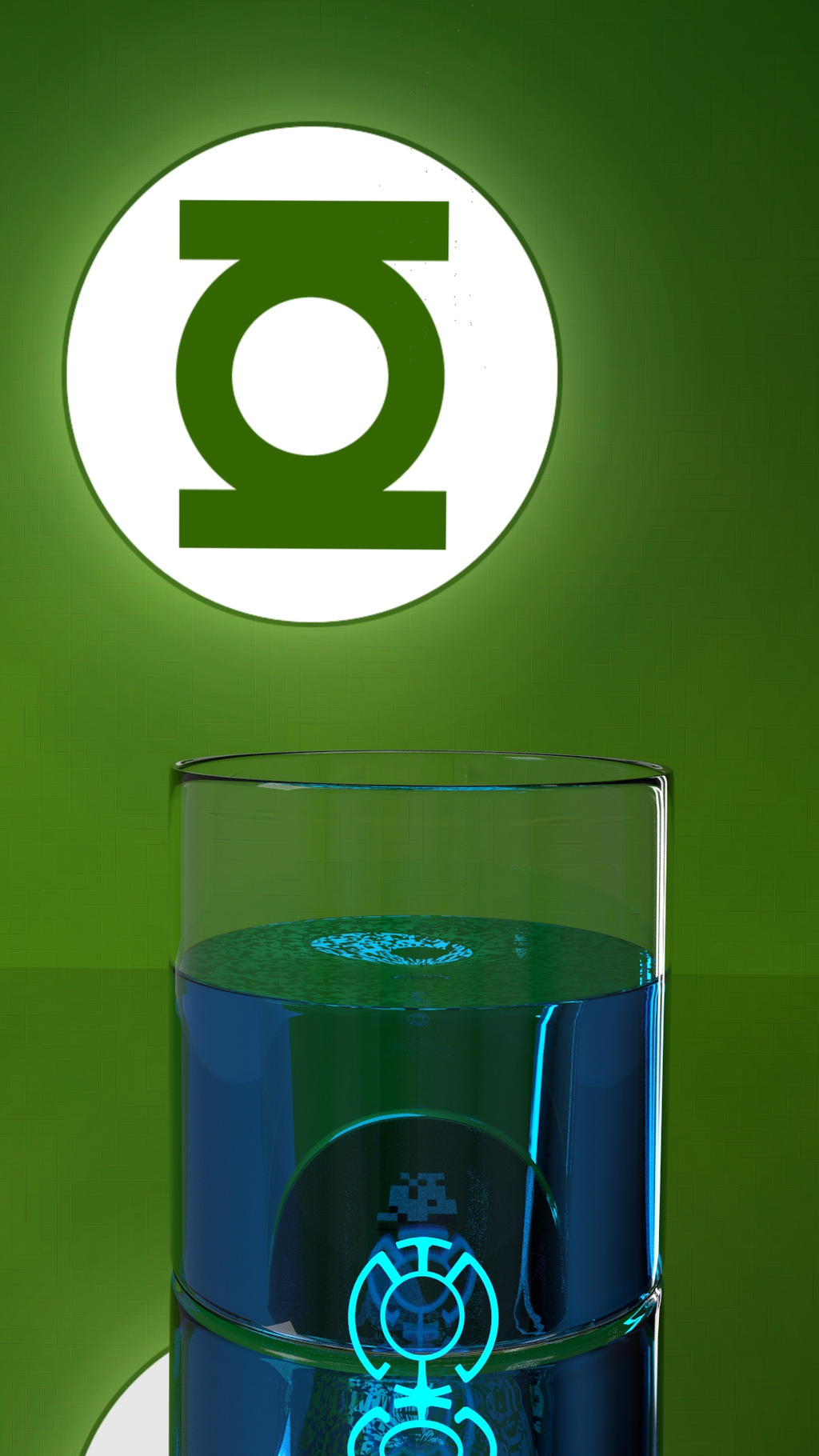 Green Lantern Blue Lantern Drink by mocap