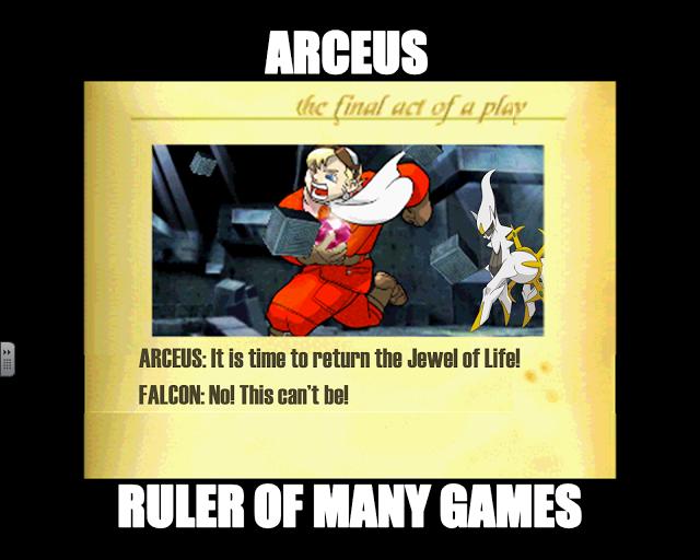 Arceus/Falcon meme