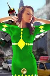 Green Ranger (Dragon-zord) by Nostalgia-Guy