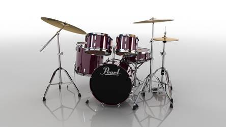 3d Drumset 1 by andrestorres12