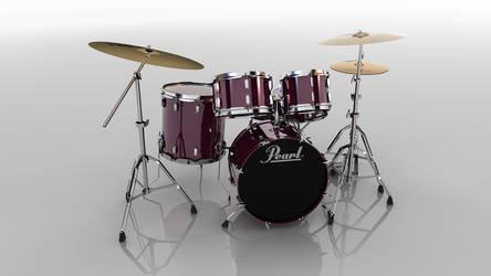 3d Drumset 2 by andrestorres12