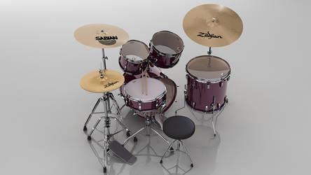 3d Drumset 3 by andrestorres12