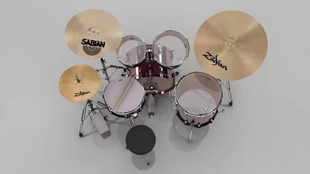 3d Drumset 4 by andrestorres12