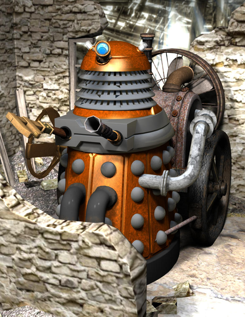 Steampunk Dalek v1 by cgartiste