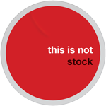 This Is Not Stock Sticker by cgartiste