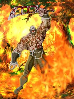 Freescape RPG Barbarian Illustration