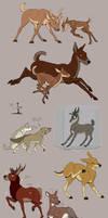 Deer comic doodles by silverdragon76