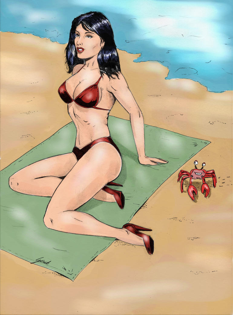Trouble at the Beach by girib