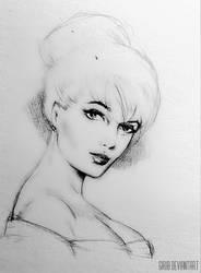 Pencil potrait sketch #4 by girib