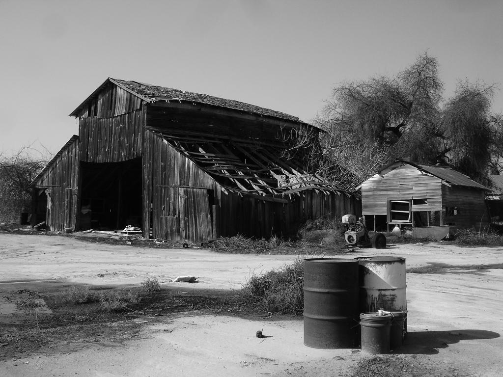 Old Barn Black And White By Z Vincent