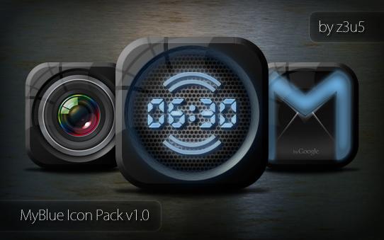 MyBlue Icon Pack by z3u5