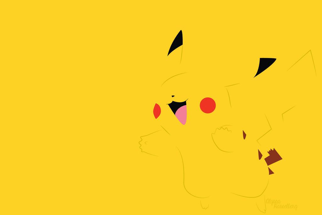 pikachu minimalist desktop wallpaper by thegreatdawn dafdx2j